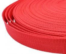 1 Meter Gurtband - Rot (148) - 25mm