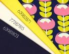 Jersey - Bloom -GOTS-Rebekah Ginda-Aubergine/Gelb