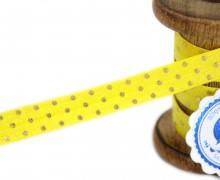 1m Faltgummi - Faltband-Punkte -Gelb
