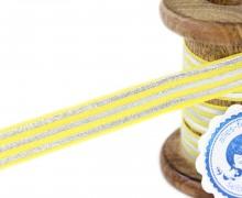 1m Faltgummi - Faltband-Streifen - Gelb/Silber