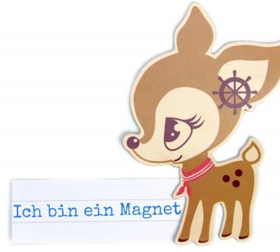 Dein Geschenk - 1 Magnet - HafenKitz - Rädchen  - NIKIKO