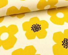Canvas - Blumen -Simple Nordic - KOKKA - Natur/Gelb