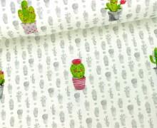 Jersey - Kleine Kaktusfreunde - Hellgrau/Weiß