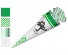 DIY-Nähset Schultüte - Ninja - Grün - zum selber Nähen