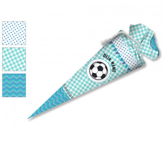 DIY-Nähset Schultüte - Fußball Blau - zum selber Nähen