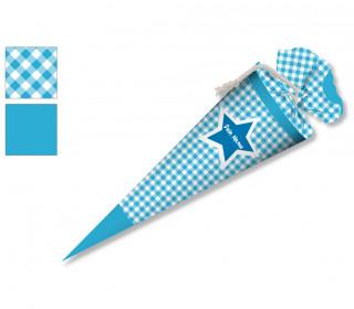 DIY-Nähset Schultüte - Stern Blau - zum selber Nähen