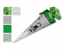 DIY-Nähset Schultüte - Faultier- grün- Formenfroh