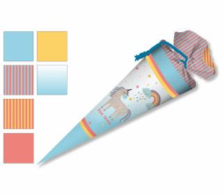 DIY-Nähset Schultüte - Einhorn auf blau - zum selber Nähen