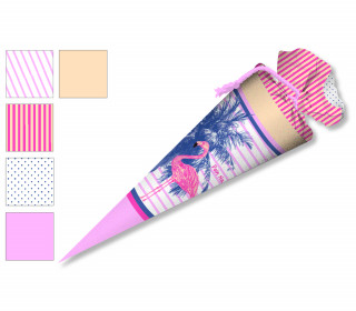 DIY-Nähset Schultüte - Flamingo und Palme - zum selber Nähen