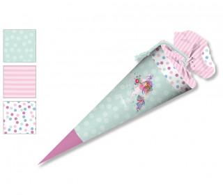 DIY-Nähset Schultüte - Wildblume Illustration - Little Dreamer Grün - zum selber Nähen