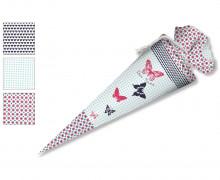 DIY-Nähset Schultüte - Schmetterlinge - zum selber Nähen