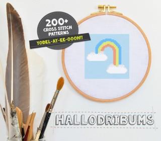 Stickdatei - Rainbow - Kreuzstichmuster - Handstick Datei