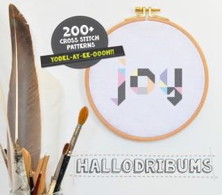 Stickdatei - Joy - Kreuzstichmuster - Handstick Datei
