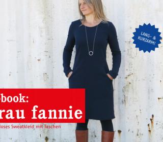 e-book FRAU FANNIE -  Sweatkleid mit Taschen XS-XL