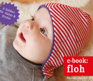Ebook - Babymütze - FLOH - kuschelige Wendemütze mit Stern