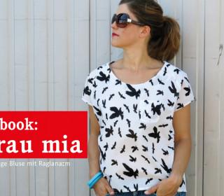 Ebook - Bluse - Frau MIA - Lockere Raglanbluse -  Größe XS-XL