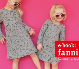 Ebook - Kleid - FANNIE - vielseitiges Sweatkleid mit Taschen - Gr  86/92  - 146/152