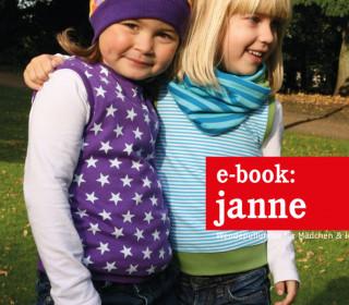 Ebook - Pullover - JANNE  - Wendepullunder für Mädchen und Jungs - Doppelgrößen 74-152