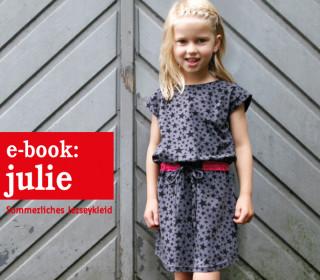 Ebook - Kleid - JULIE  - Jerseykleid mit Gürtel - Doppelgrößen 98-152