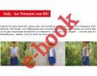 Ebook - SALLY  - Mädchenkleid im Materialmix mit Tulpenrock - Doppelgrößen 98-152