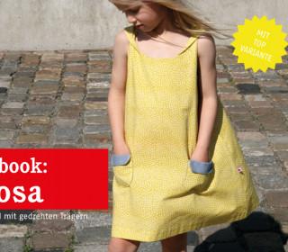 Ebook - ROSA - Sommerkleid und -Top mit gedrehten Trägern - Doppelgrößen 74/80 - 134/140
