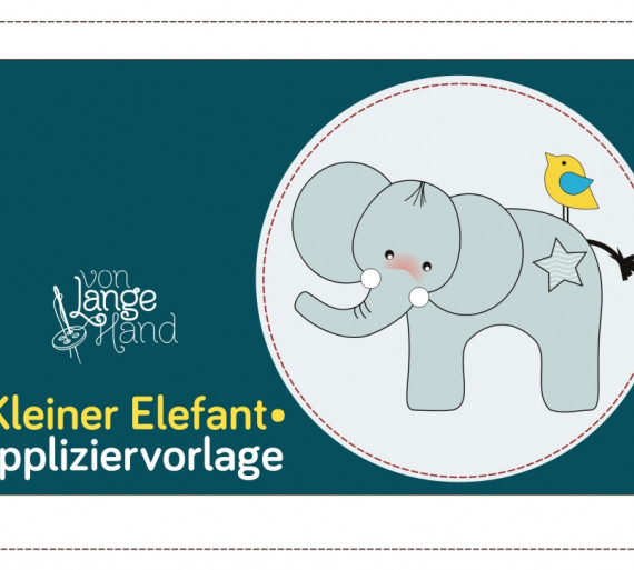 Applikationsvorlage Kleiner Elefant