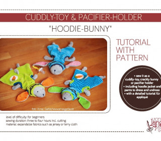 Ebook tutorial with pattern – Cuddly-toy & Pacifier-holder
