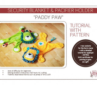 Ebook tutorial with pattern – Security-blanket & Pacifier-holder