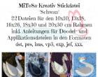 MiToSa-Kreativ Stickdatei Schwan ALLE Größen (inkl. 10x10, 13x18, 16x26, 18x30 und 20x30 cm)