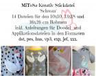 Stickdatei - Schwan 16x26 cm (inkl. 10x10 und 13x18 cm) MiToSa-Kreativ