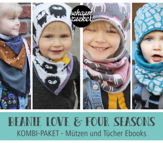Ebook - Kombi * four seasons * beanie love * - ideal für Musselin