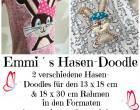 Stickdatei - Emmi-Hase 13x18 & 18x30 cm