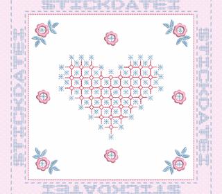 Stickdatei - Patch und Blanko 1 für Rag Quilt
