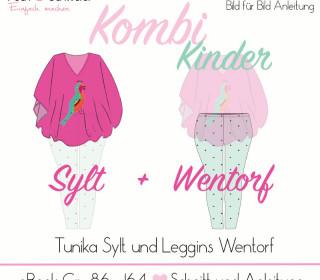 """Ebook - Kombi  """"Sylt"""" und """"Wentorf"""" KINDER Gr. 86 – 164 (A4 / A0) von Pech und Schwefel"""