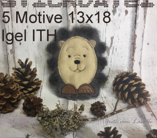Igel Thomas ITH 13x18 Stickdatei