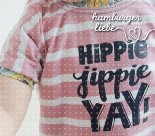 Plotterdatei – Hippie jippie yay – Hamburger Liebe
