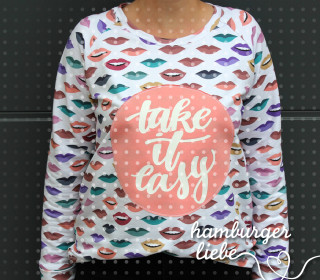 Plotterdatei – take it easy – Hamburger Liebe
