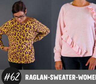 eBook Raglan Sweater Women im oversized Look