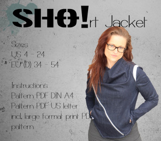 SHO!rt Jacket - a slimfit jacket with asymmetrical zipper