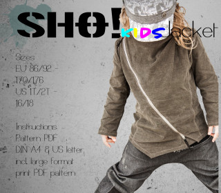 SHO! KIDS Jacket - an asymmetrical jacket for cool kids