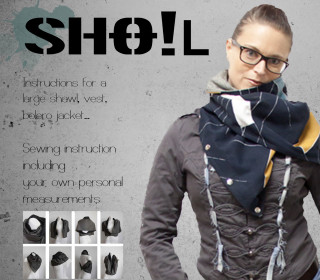 SHO!L - Instructions for a large shawl, vest, bolero jacket....
