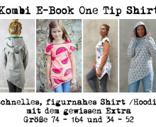 Kombi E-Book One Tip Shirt / Hoodie Kinder und Damen