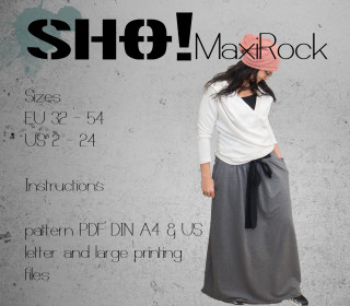 SHO!maxiRock - a flared floor long skirt