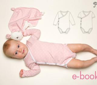 Baby Wickelbody langarm od. kurzarm Body Cielo Gr. 38-92