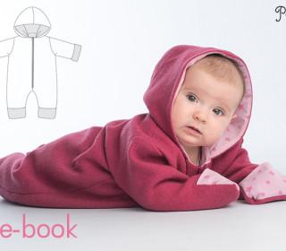 Schnittmuster Baby Overall mit Reißverschluss Sole