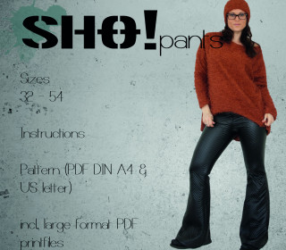 SHO!pants - a flared leg fitted pants