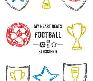 Stickserie My heart beats football