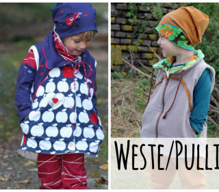 Ebook - Kombi Pullover/Weste/Pullunder Herbstlied by From heart to needle