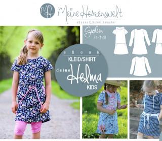 # 40 eBook - deine HELMA Kids - Kleid/Shirt - Größe 74-128