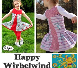 Ebook - HAPPY WIRBELWIND Tunika mit Drehschößchen  Gr. 74 - 152 von Happy Pearl